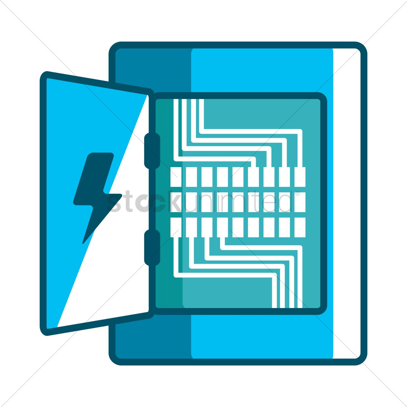 electricity distribution box vector image