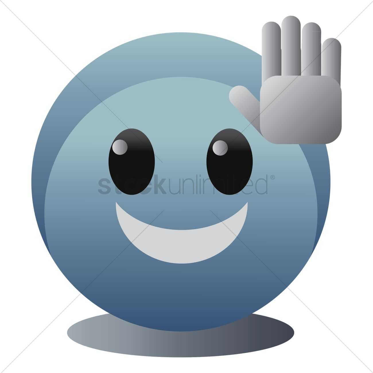 emoticon giving high five vector image 1324051 stockunlimited stockunlimited