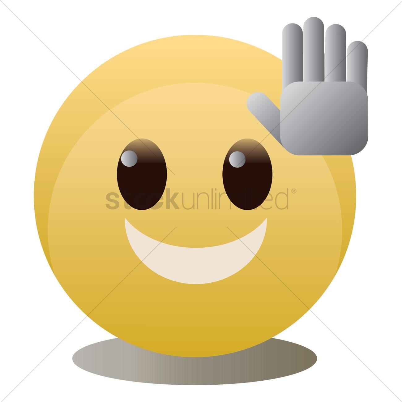 emoticon giving high five vector image 1326055 stockunlimited emoticon giving high five vector image
