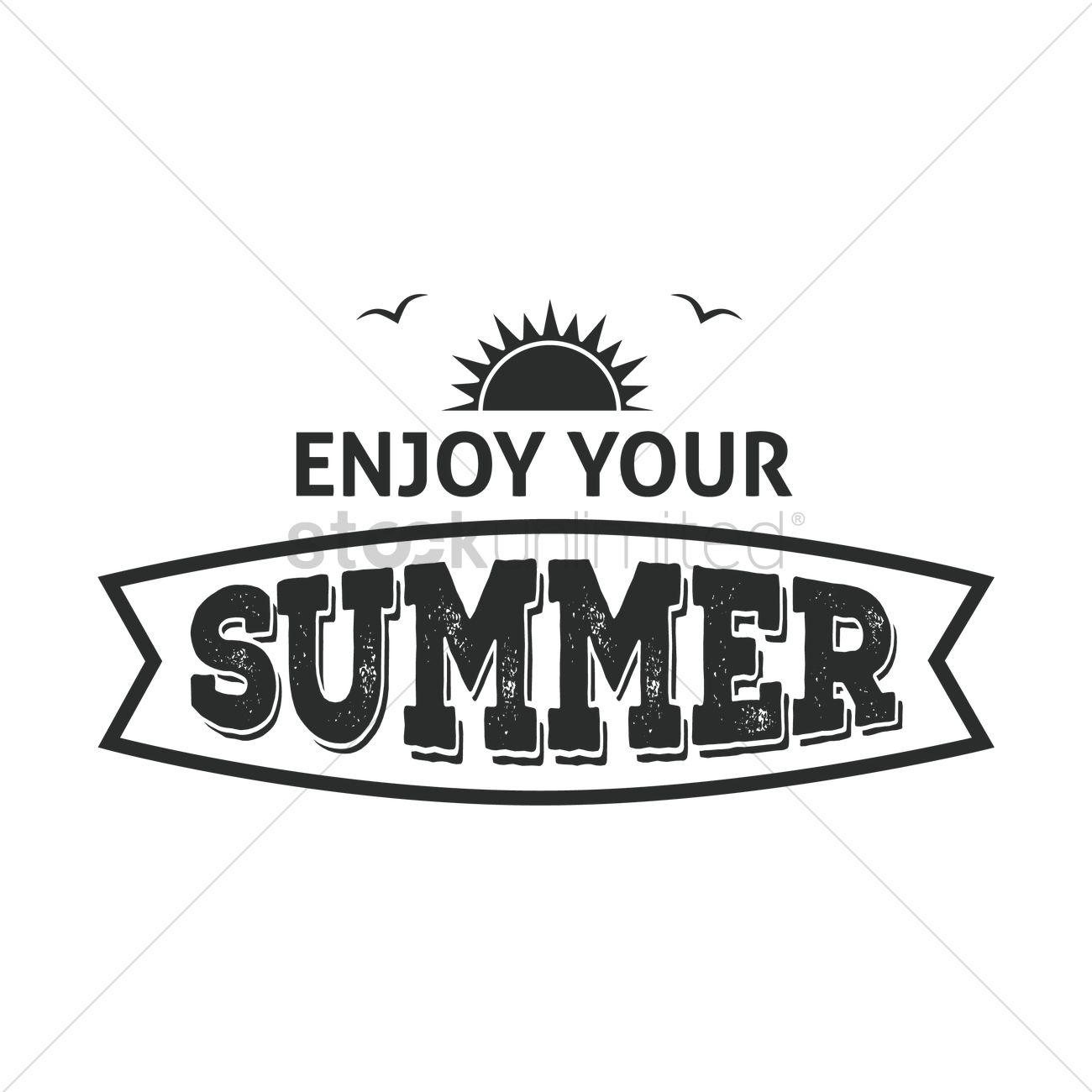enjoy your summer label vector image 1872679 stockunlimited