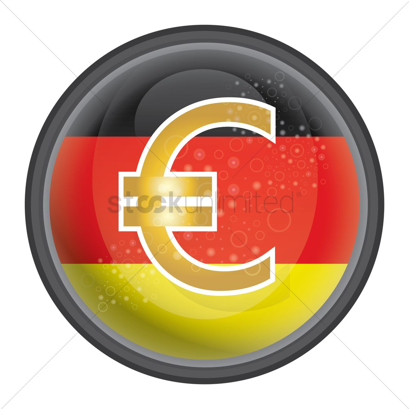 Euro symbol with german flag icon vector image 1953999 euro symbol with german flag icon vector graphic biocorpaavc Images