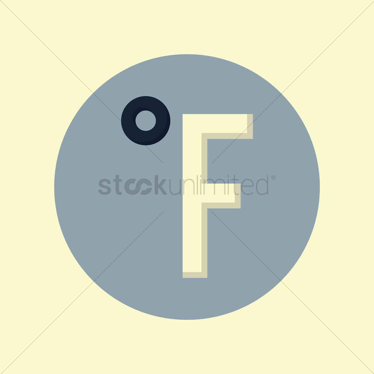 Fahrenheit symbol vector image 1333503 stockunlimited fahrenheit symbol vector graphic biocorpaavc Choice Image