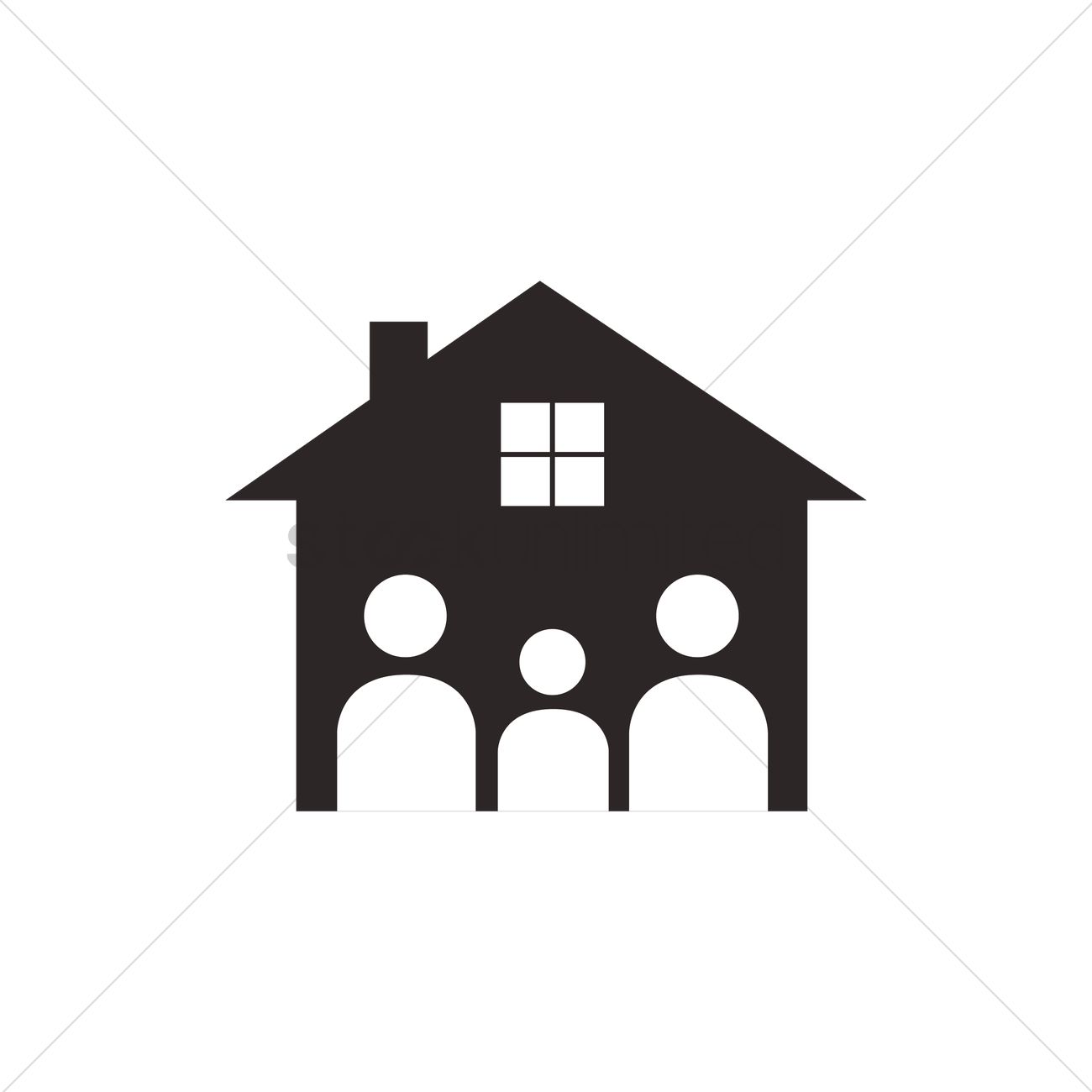 family house logo vector image 1270195 stockunlimited rh stockunlimited com house vector png house vector black