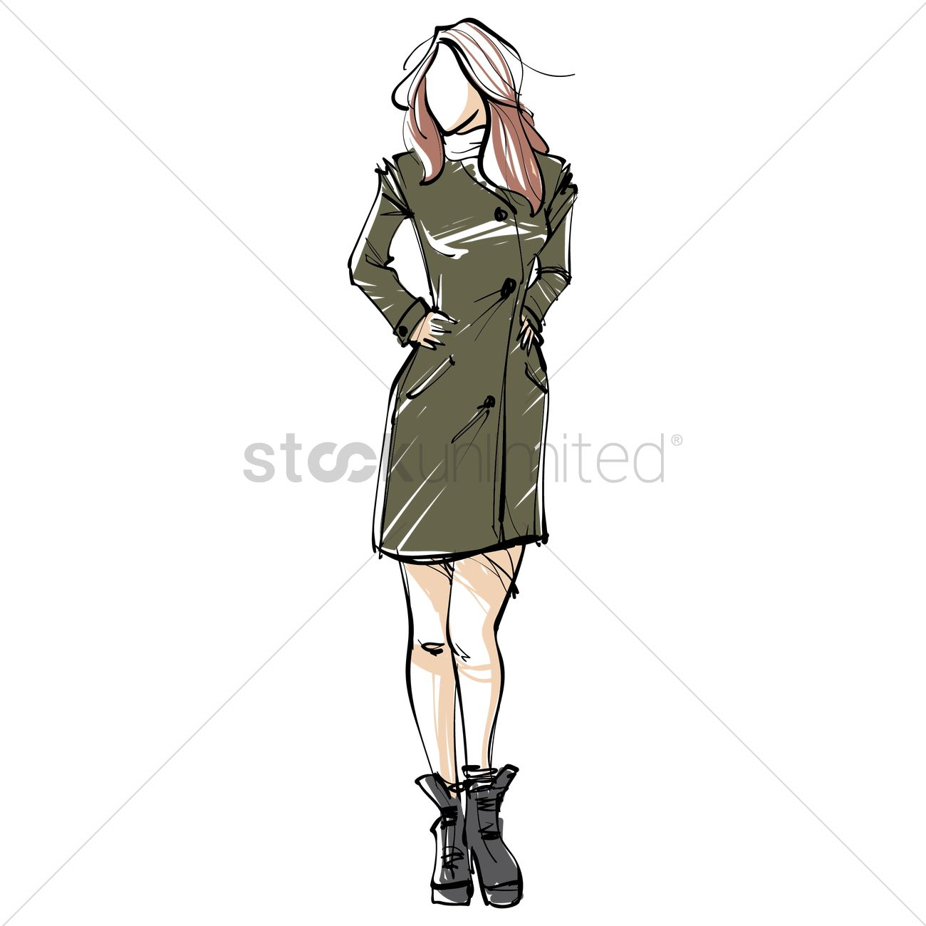 fashion model sketch vector image 2003075 stockunlimited