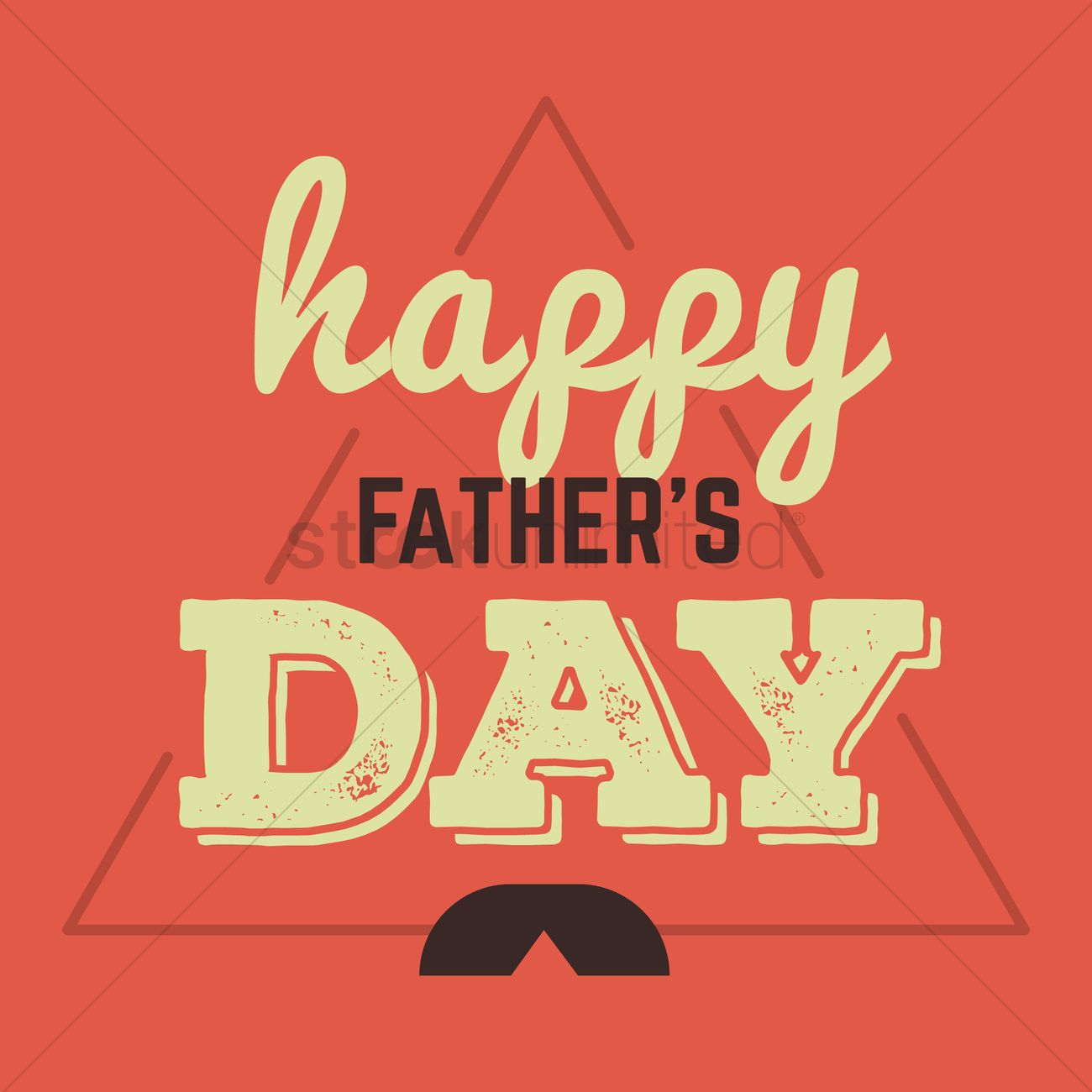 Fathers Day Greeting Card Vector Image 1539867 Stockunlimited