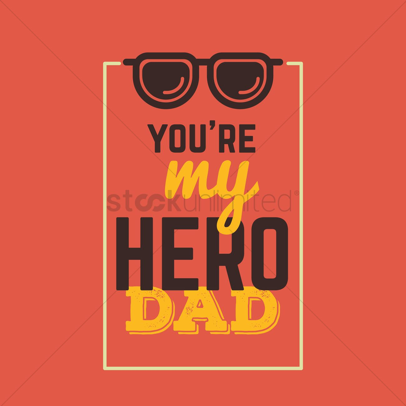 Fathers Day Greeting Card Vector Image 1539871 Stockunlimited