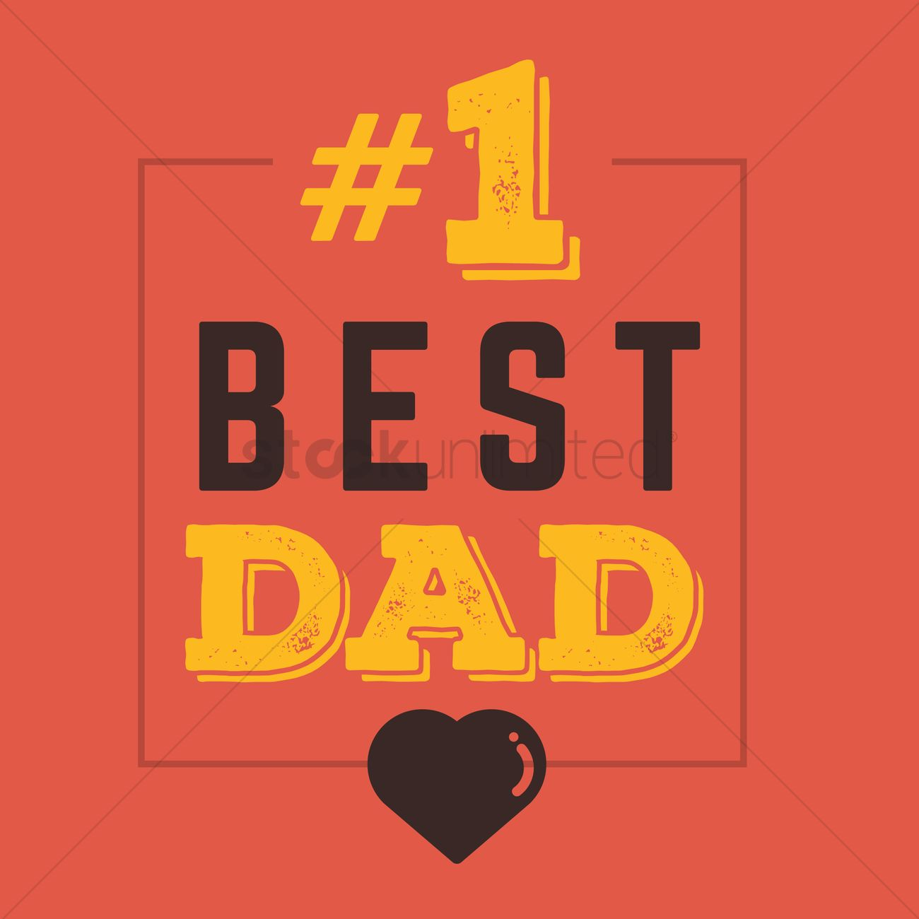 Fathers Day Greeting Card Vector Image 1540267 Stockunlimited
