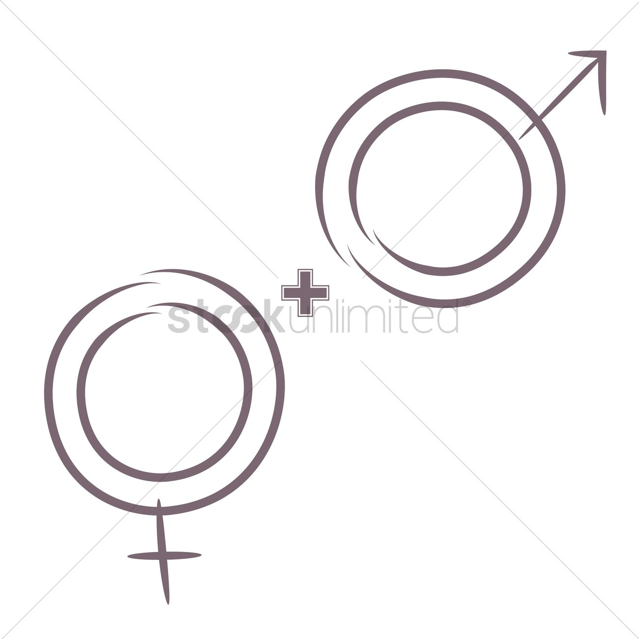 Female And Male Symbols Vector Image 2034067 Stockunlimited