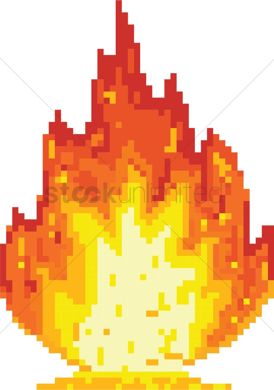 Fire Pixel Art Vector Image 2021087 Stockunlimited