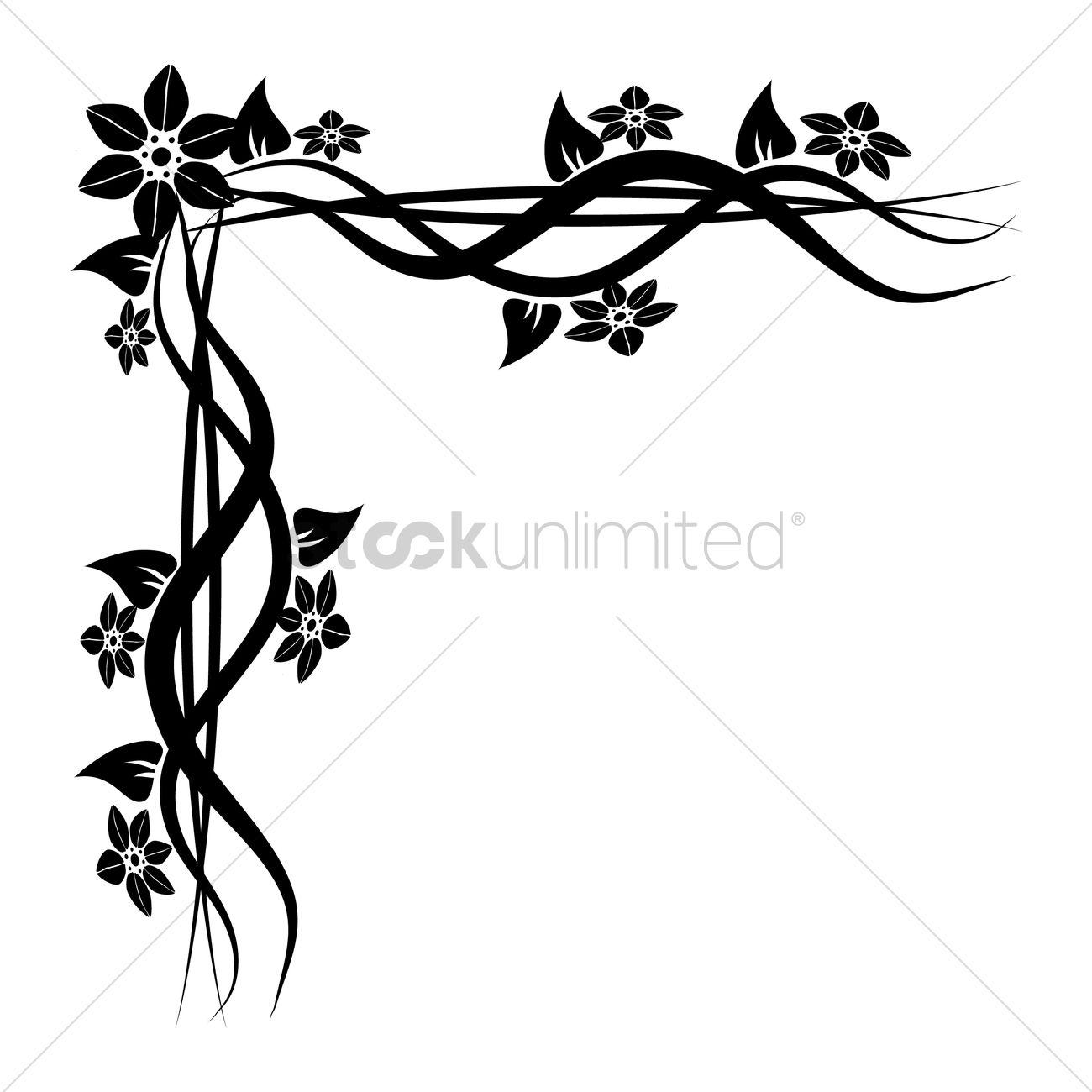 Floral corner design Vector Image - 1626887 | StockUnlimited