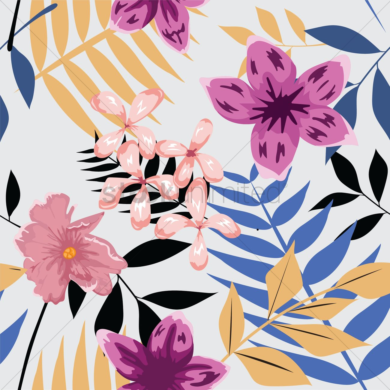Floral Wallpaper Vector Image 1694347 Stockunlimited
