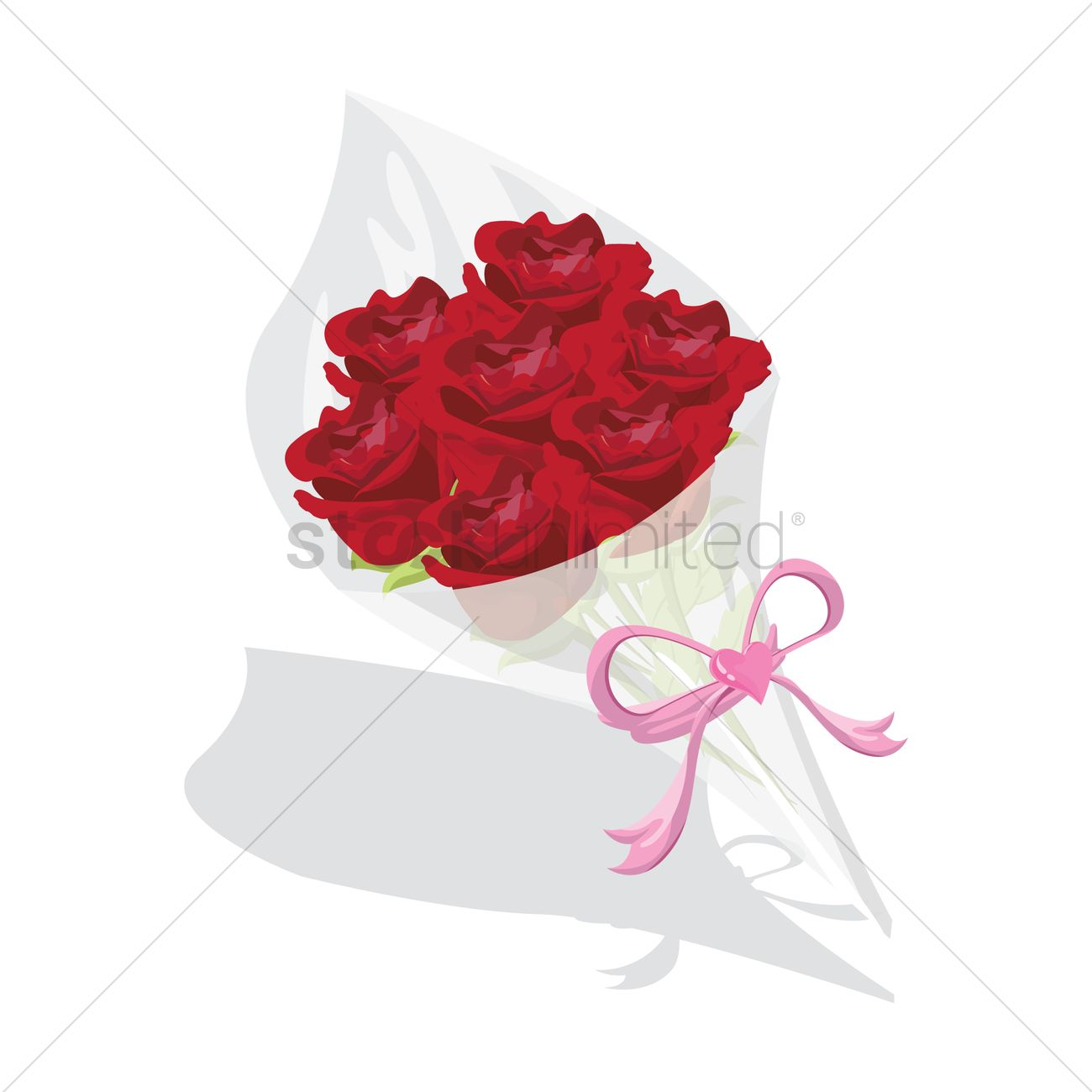 Flower Bouquet Vector Image 1298367 Stockunlimited