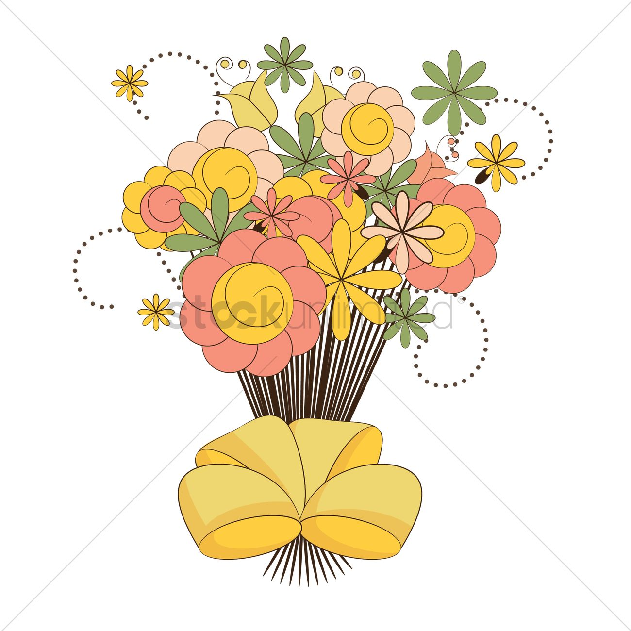 Flower Bouquet Vector Image 1359447 Stockunlimited
