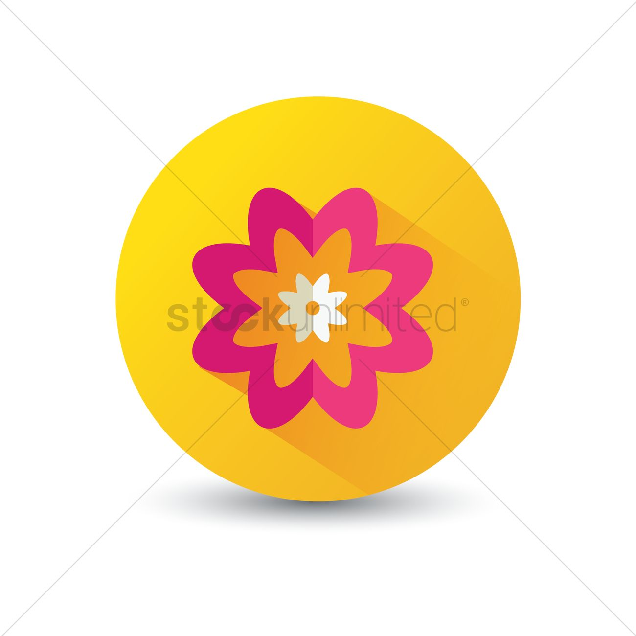 Flower Icon Vector Image 1375043 Stockunlimited