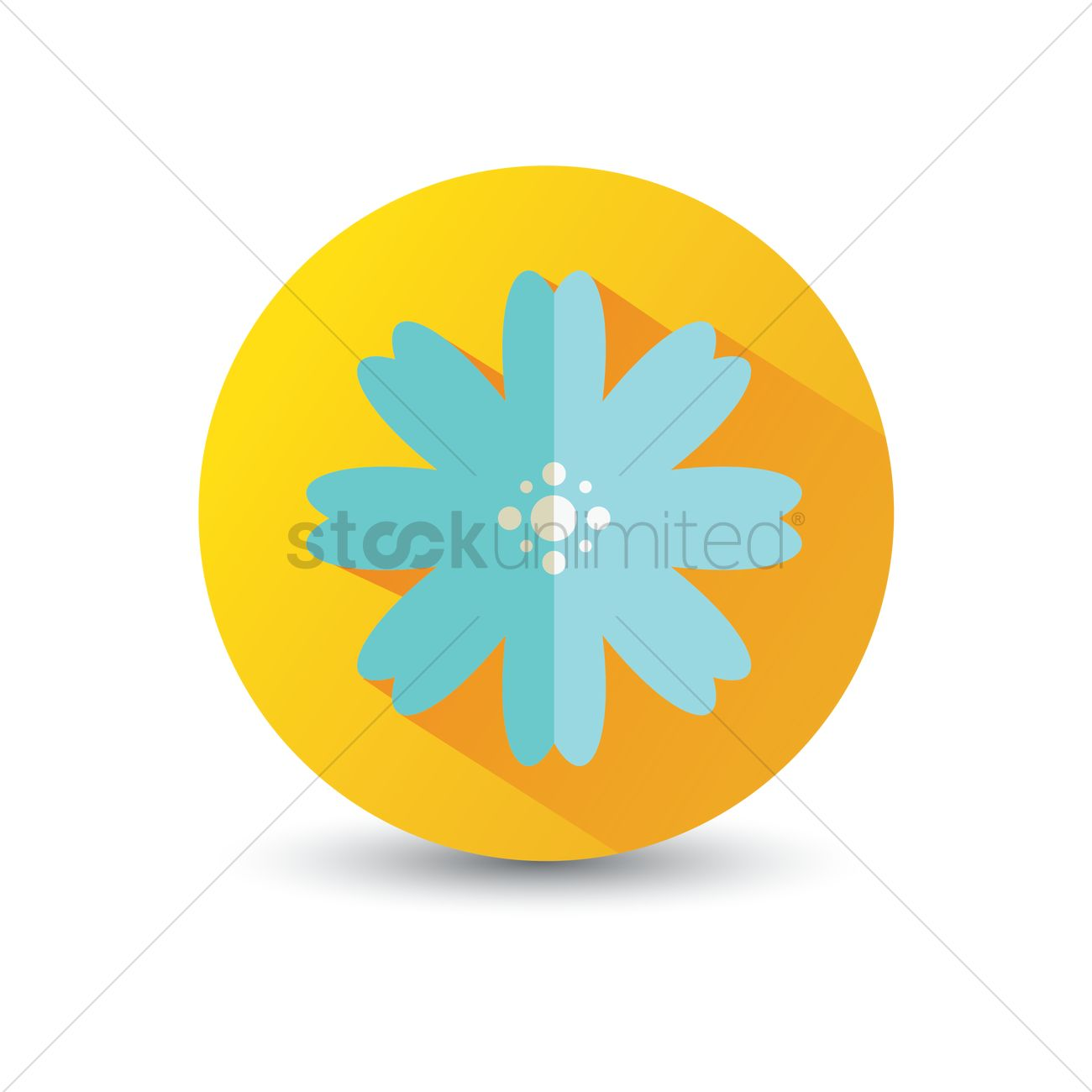 Flower Icon Vector Image 1375059 Stockunlimited