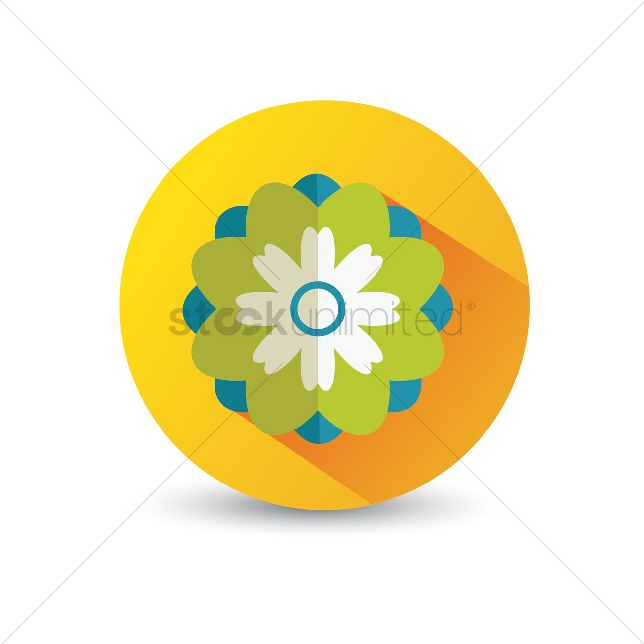 Flower Icon Vector Image 1375075 Stockunlimited