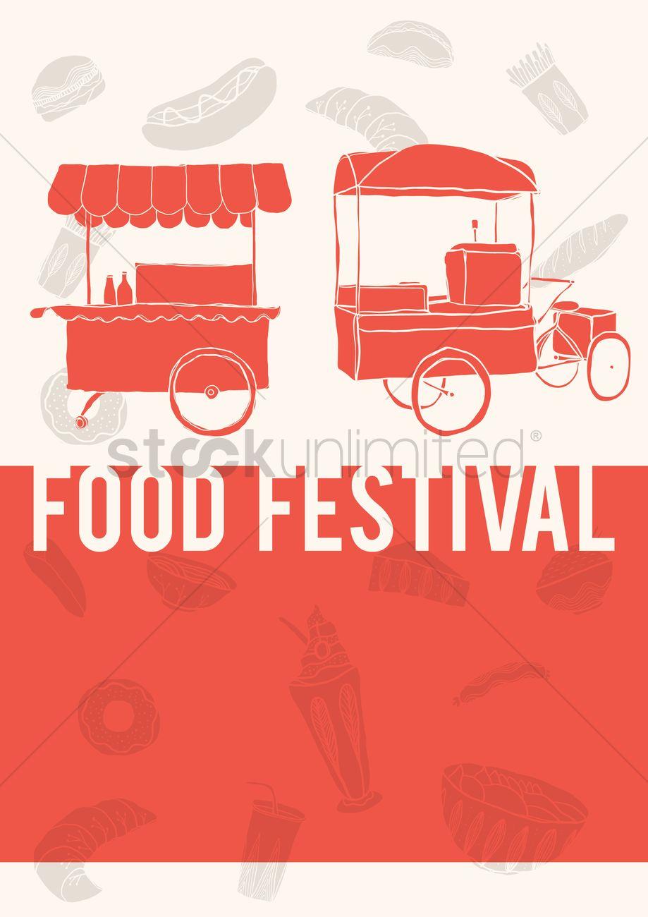 Food Festival Poster Design Vector Graphic