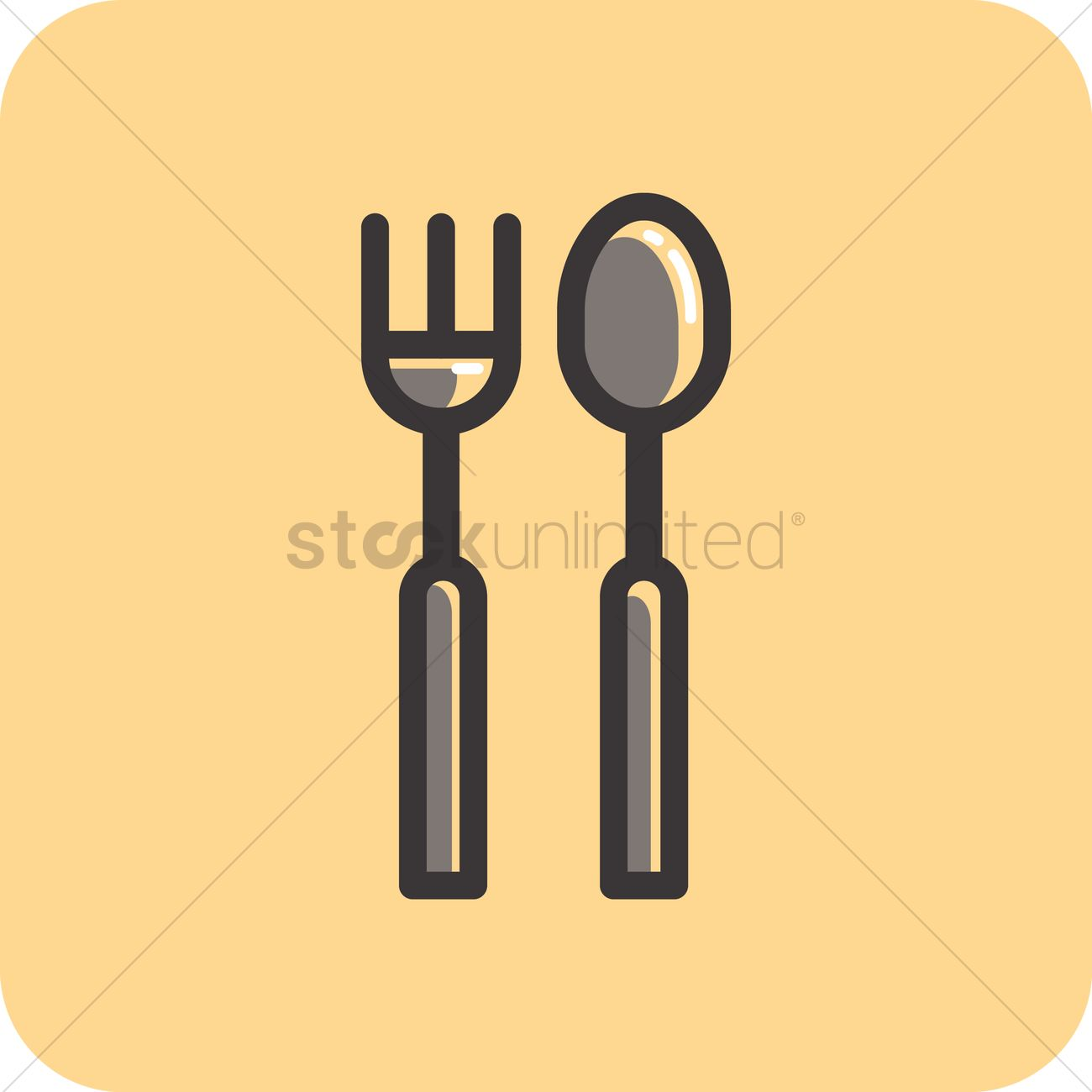 Fork And Spoon Vector Image 1531691 Stockunlimited