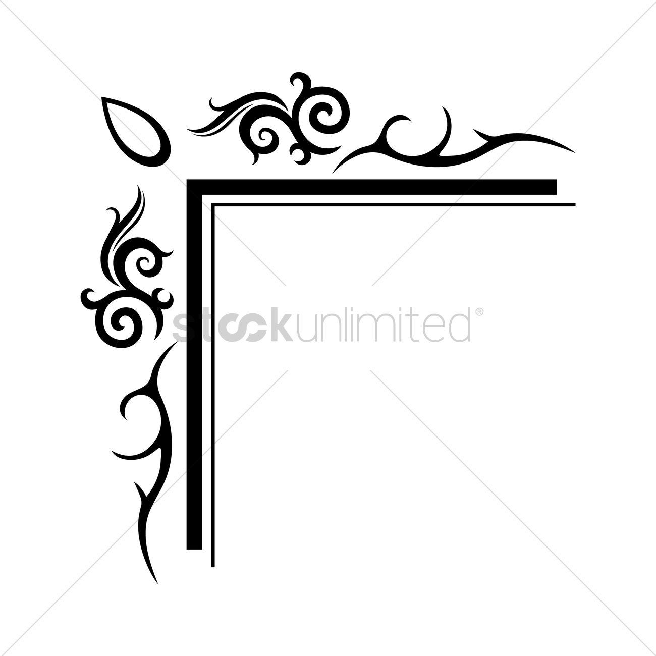 Frame corner design Vector Image - 1627211 | StockUnlimited