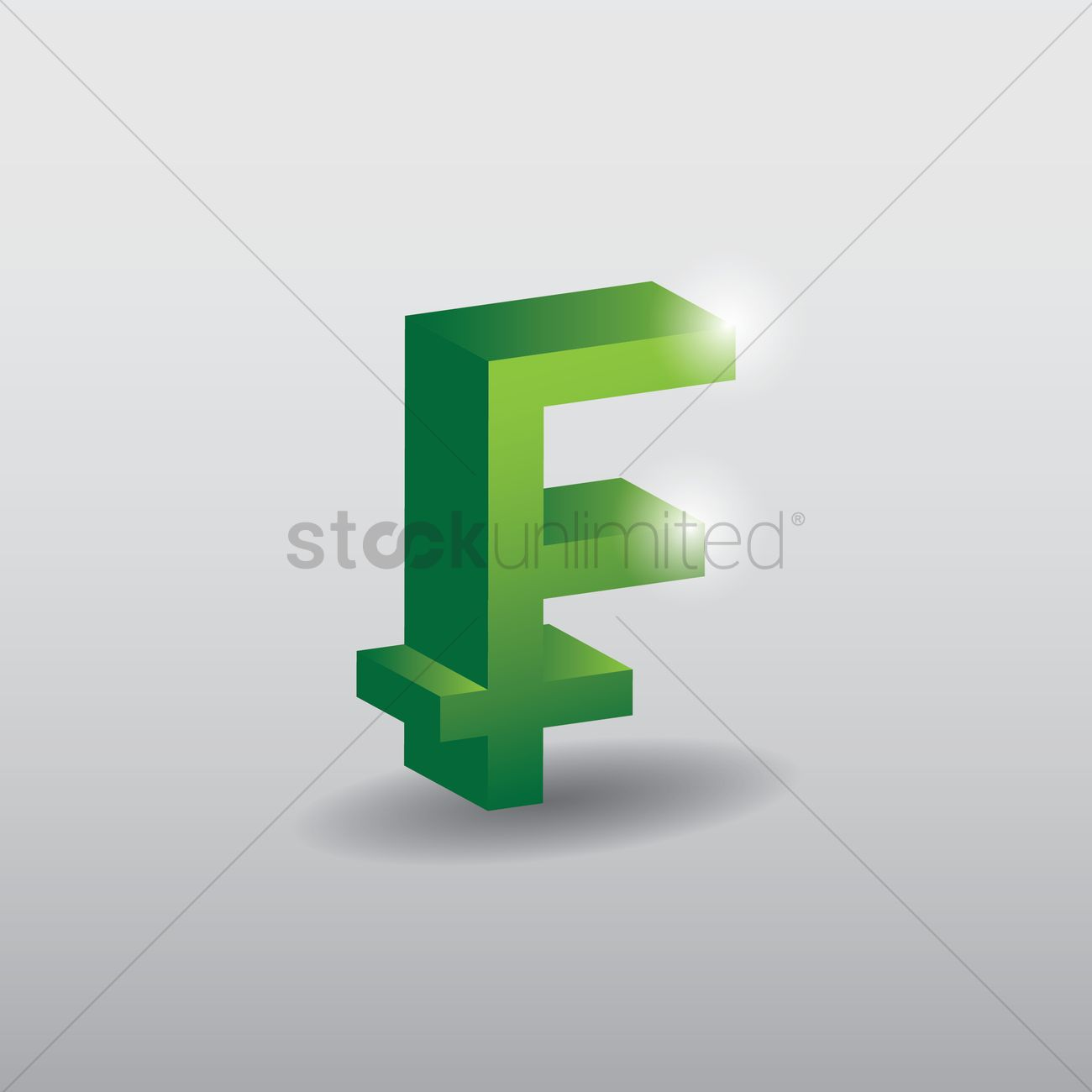 Franc Currency Symbol Vector Image 1630947 Stockunlimited