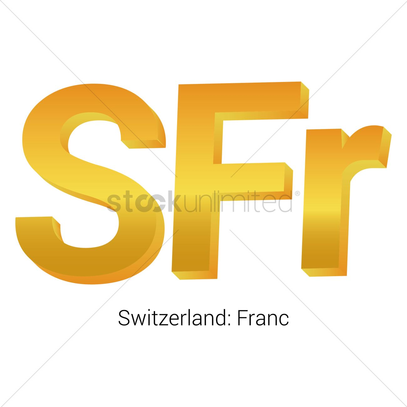 Franc Currency Symbol Vector Image 1821563 Stockunlimited
