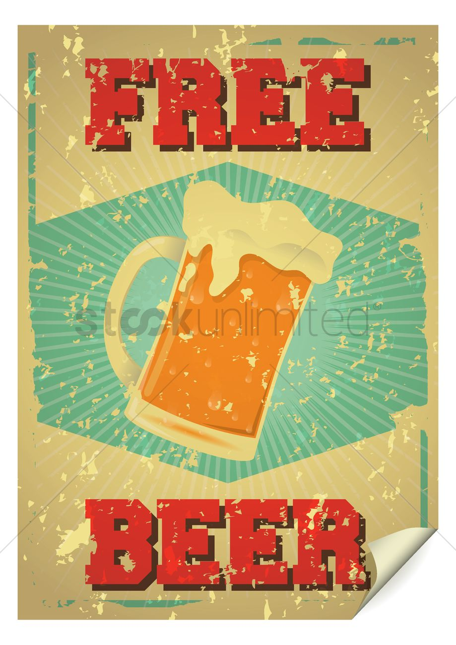 Free Beer Poster Vector Graphic