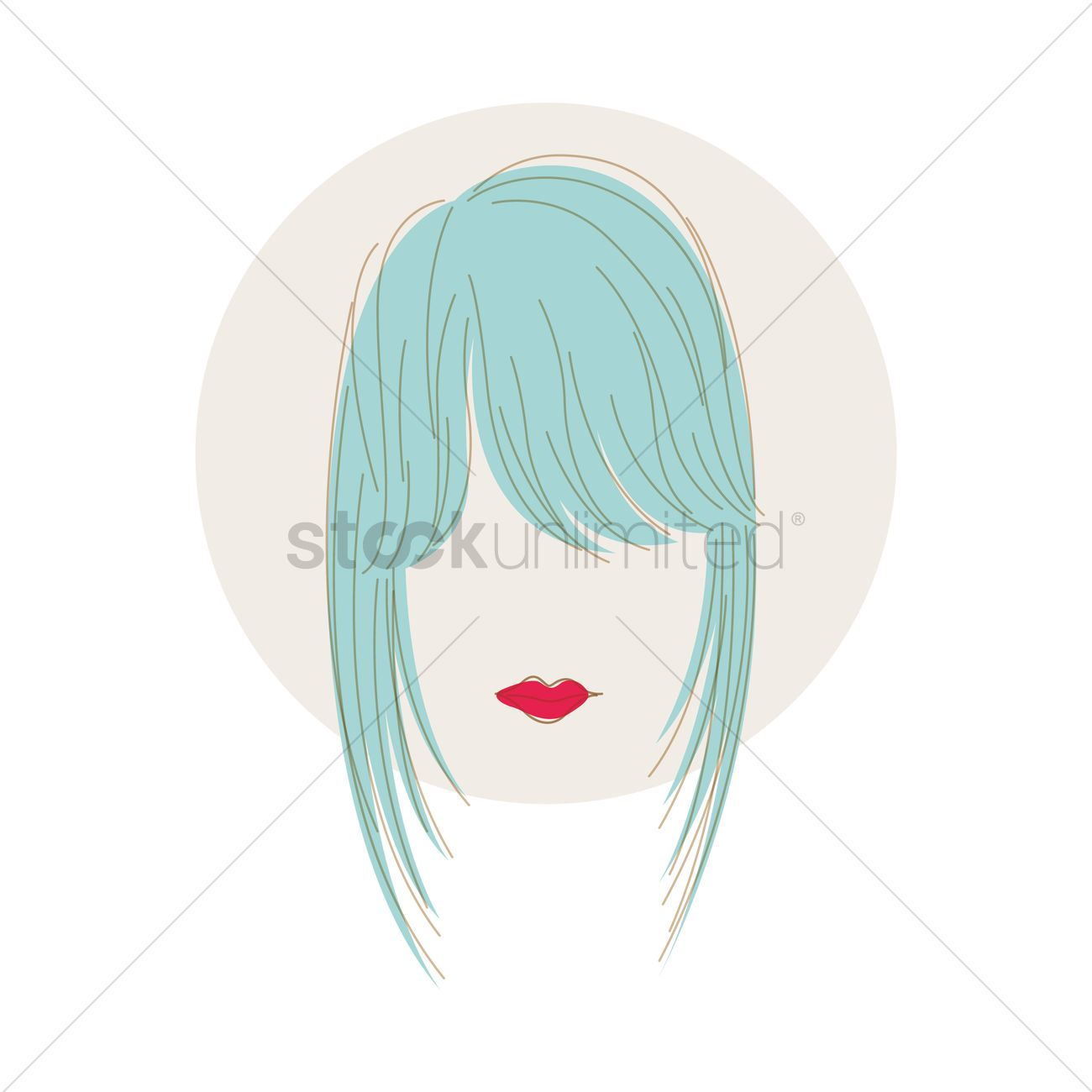 Fringe Hairstyle Vector Image 1373307 Stockunlimited