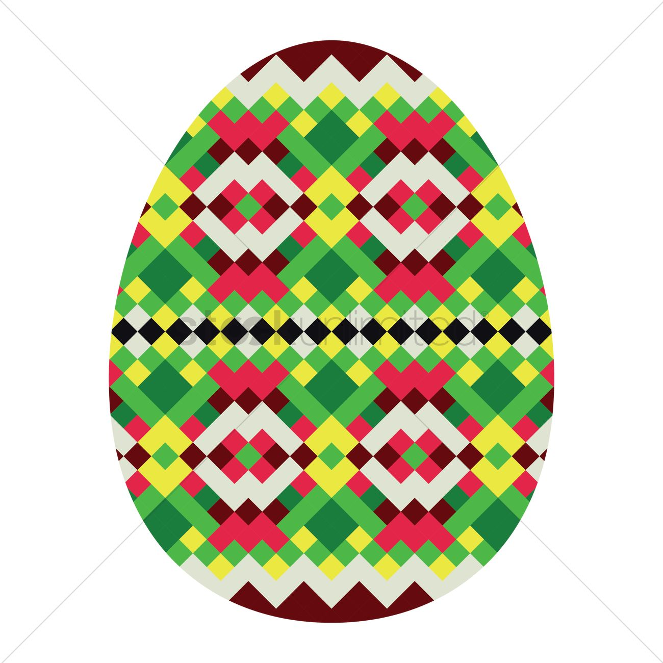 Geometrical Easter Egg Patterns Vector Image 1323227 Stockunlimited