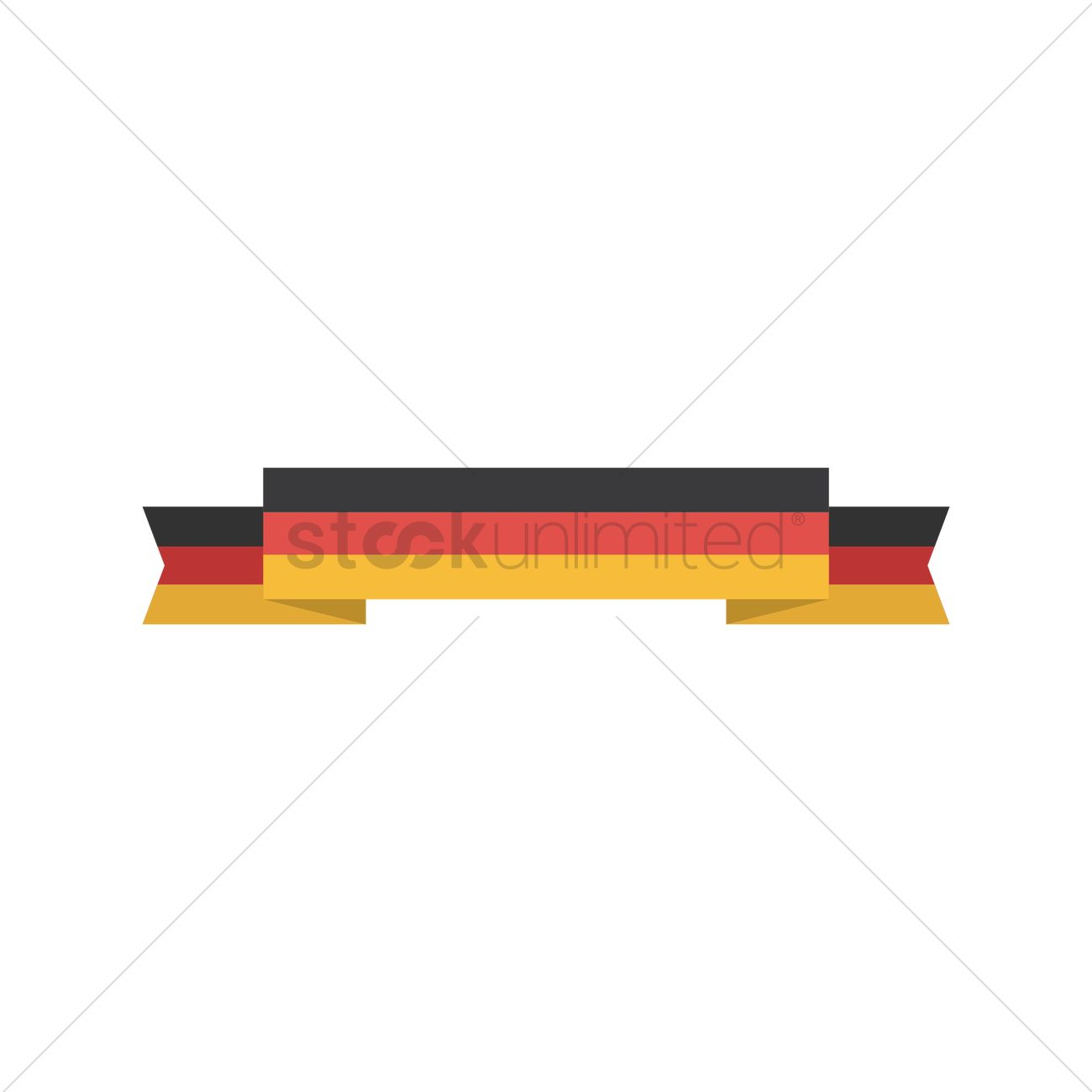 german flag banner vector image 1619767 stockunlimited