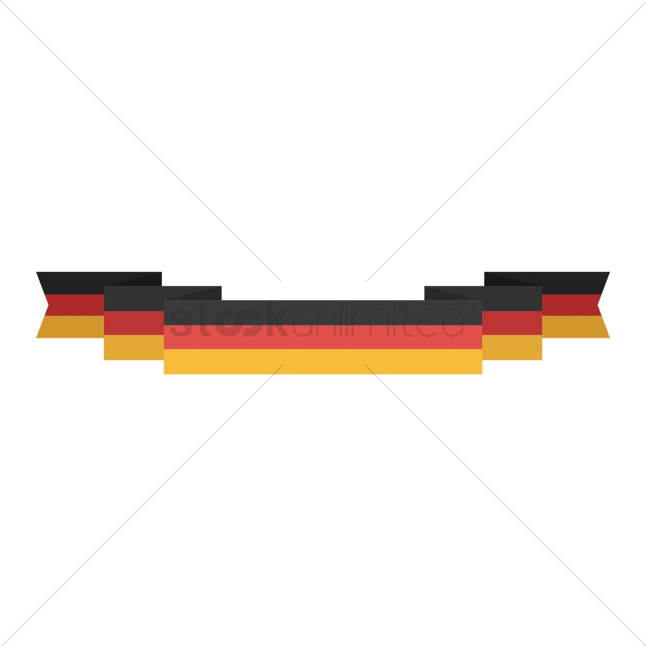 german flag banner vector image 1619771 stockunlimited