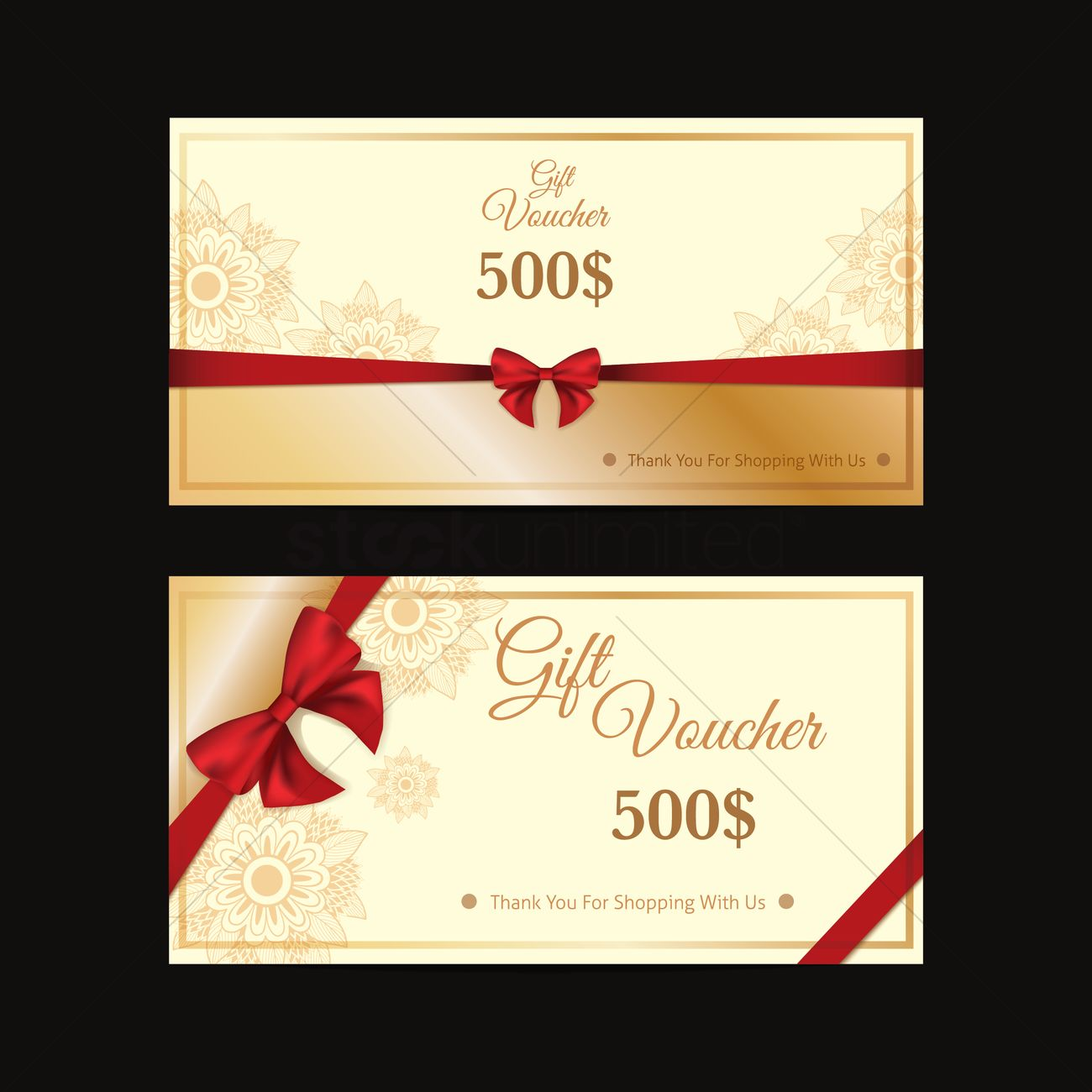 Gift voucher design vector image 1996215 stockunlimited gift voucher design vector graphic alramifo Images