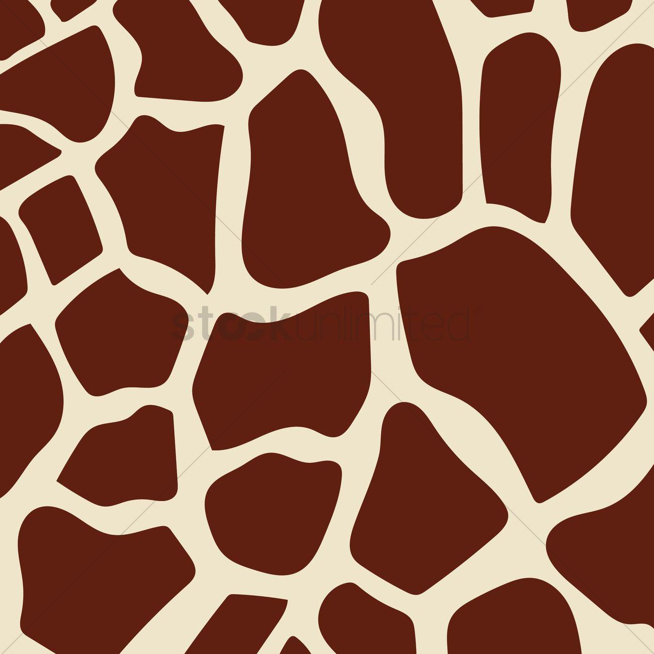 Giraffe Print Background Vector Image