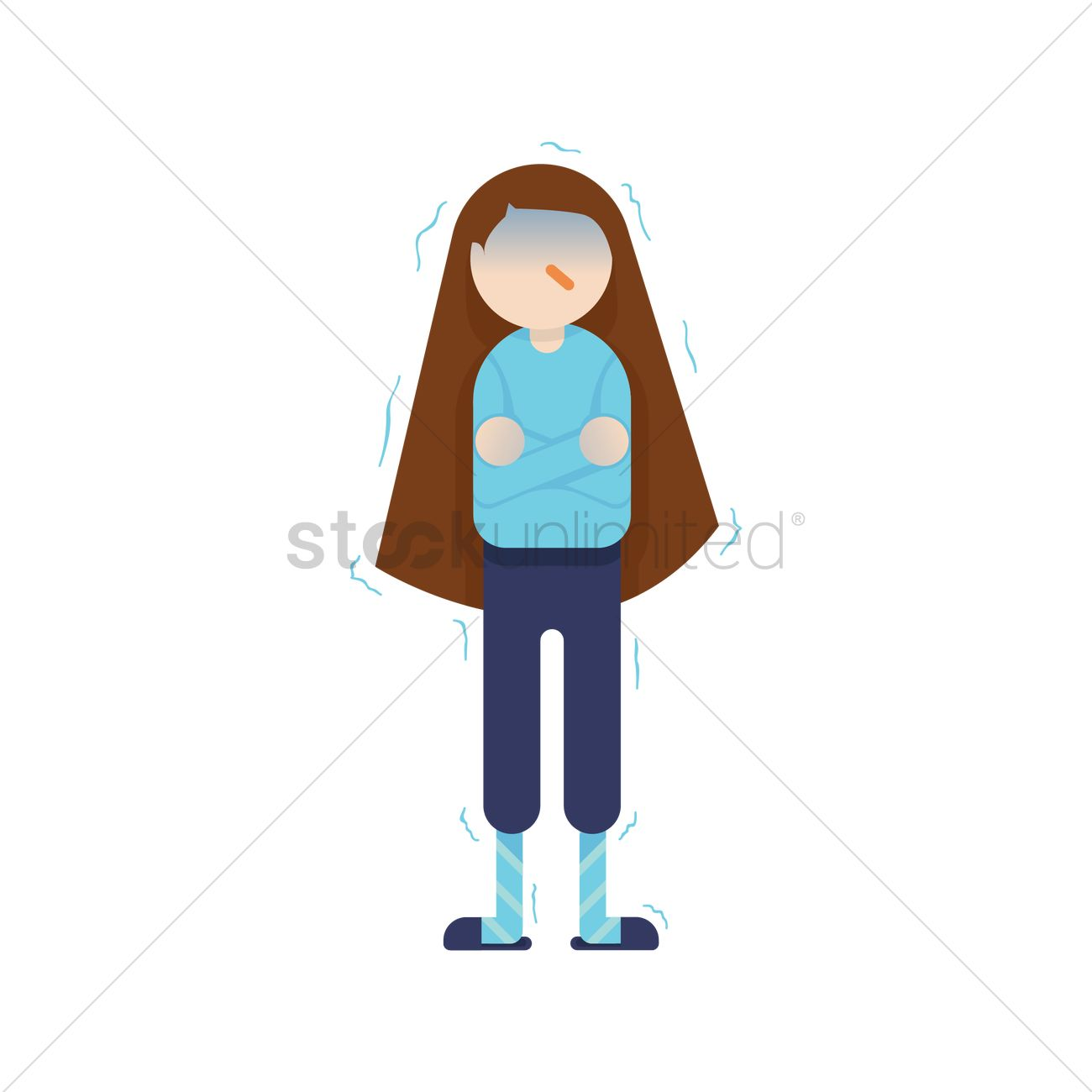 Amy) Woman is Shivering Cold clipart. Free download transparent .PNG    Creazilla