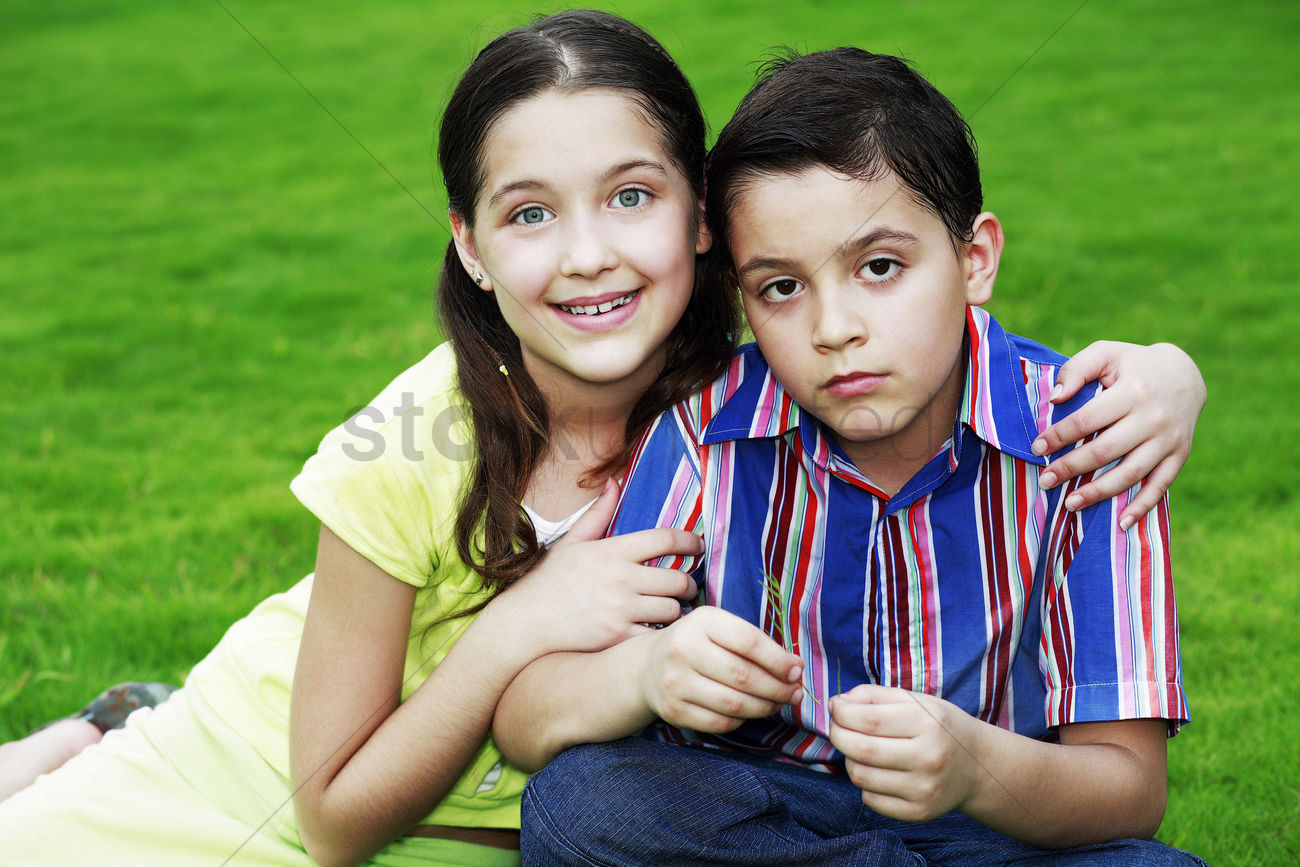 girl hugging boy stock photo 1675783 stockunlimited