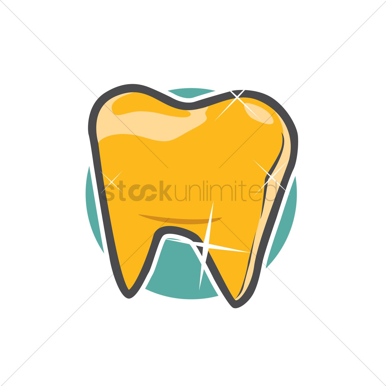 Gold Tooth Vector Image 1426359 Stockunlimited