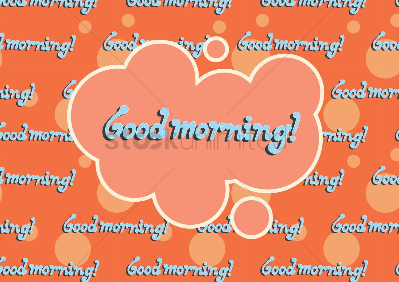 Good Morning Greeting In A Cloud Speech Bubble Vector Image