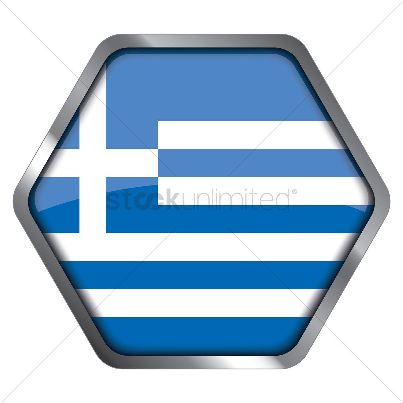 Greece flag hexagon frame Vector Image - 1340803 | StockUnlimited