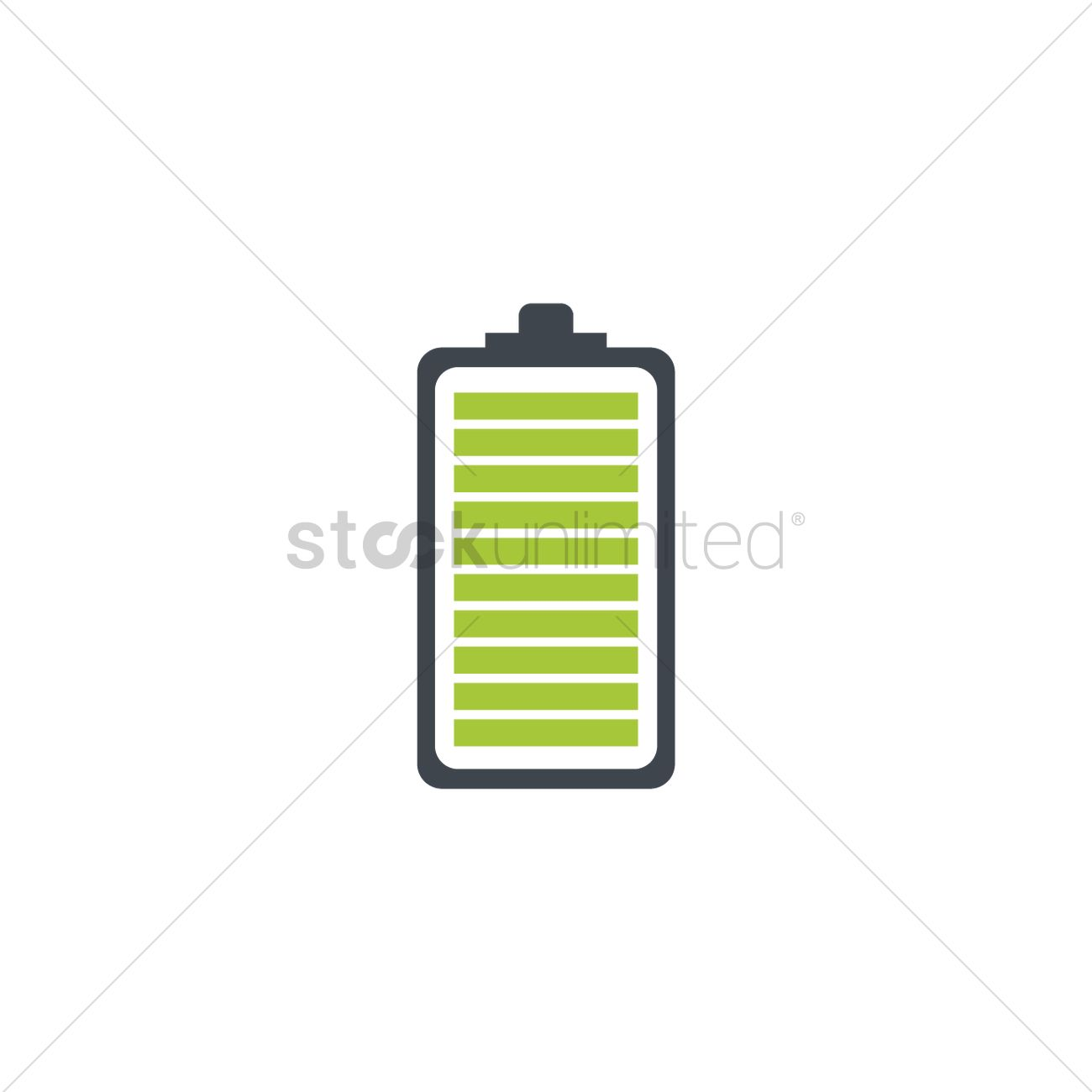 Green battery level indicator icon Vector Image - 1954667