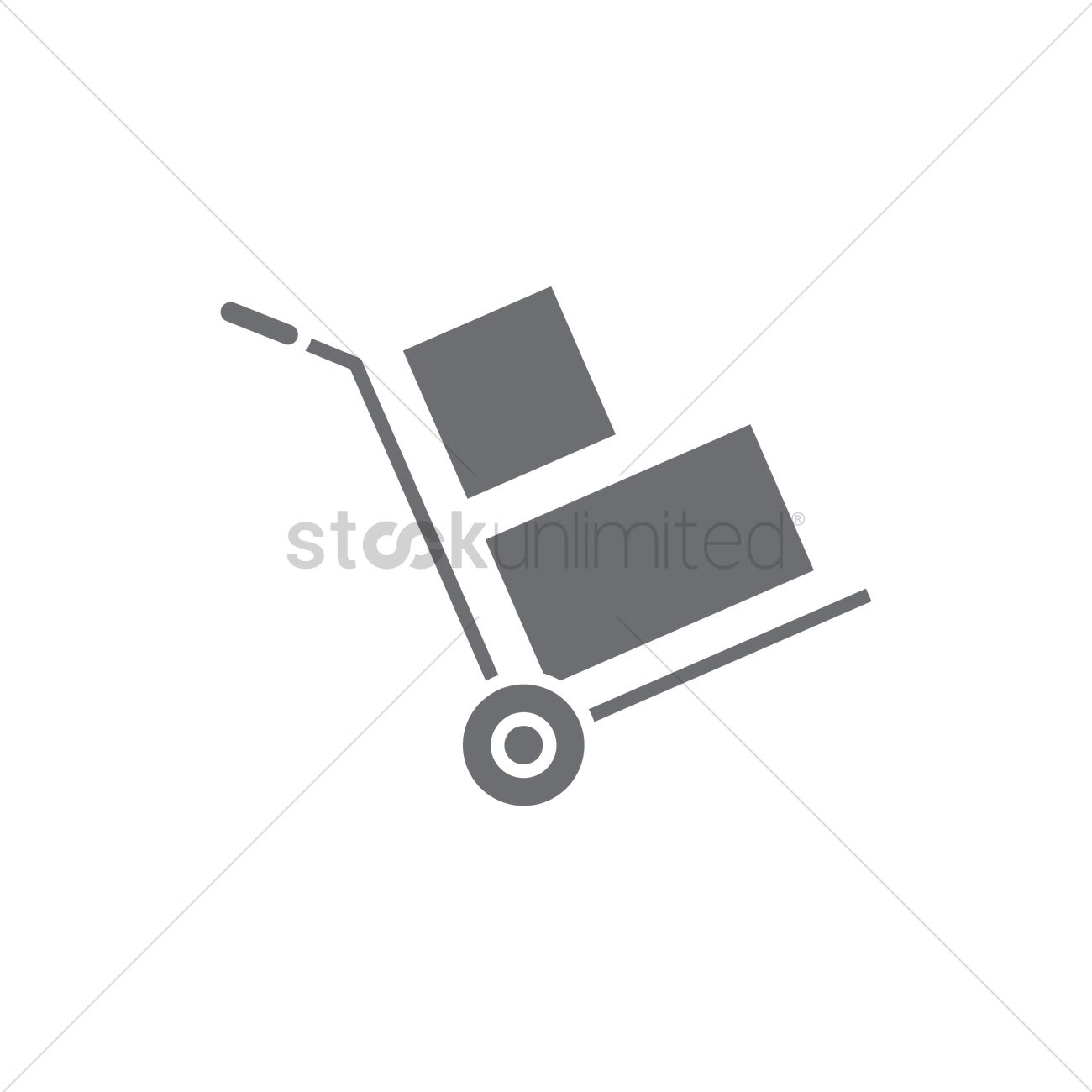 Hand trolley with boxes Vector Image - 1983395 | StockUnlimited