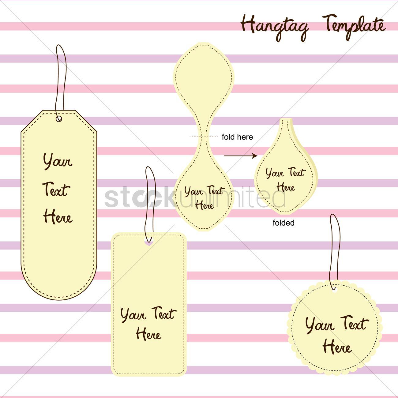 Hang tag template Vector Image - 1432027   StockUnlimited