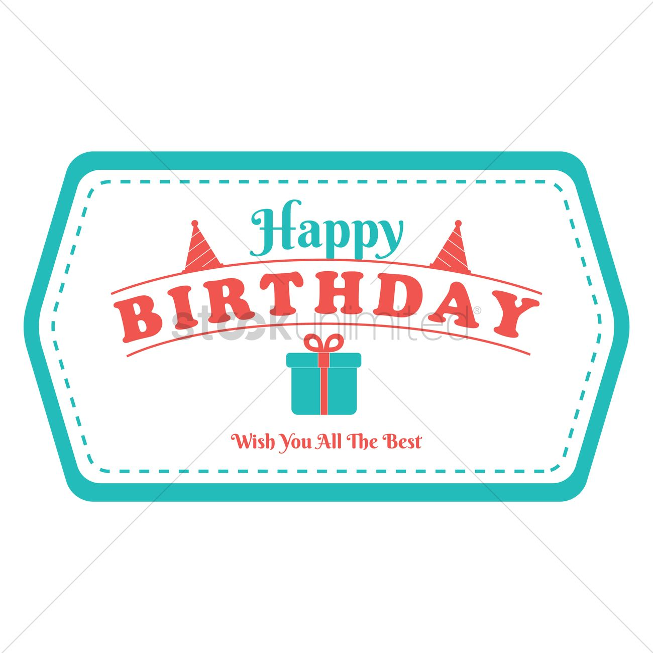 Happy Birthday Label Design Vector Image 1799563