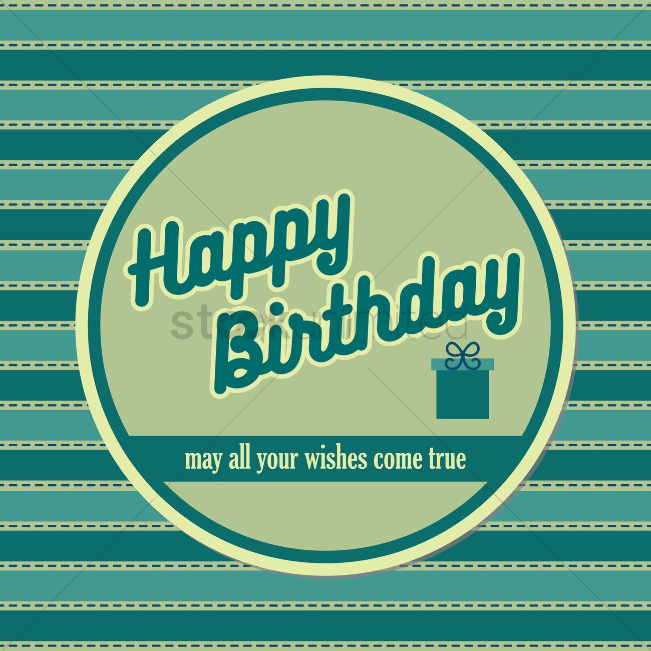 Happy Birthday Wishes Vector Image 1791435 Stockunlimited