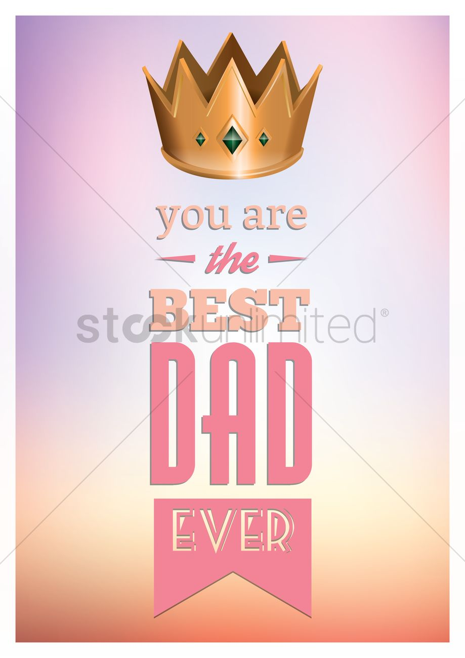 Happy Fathers Day Greeting Card Vector Image 1558707 Stockunlimited