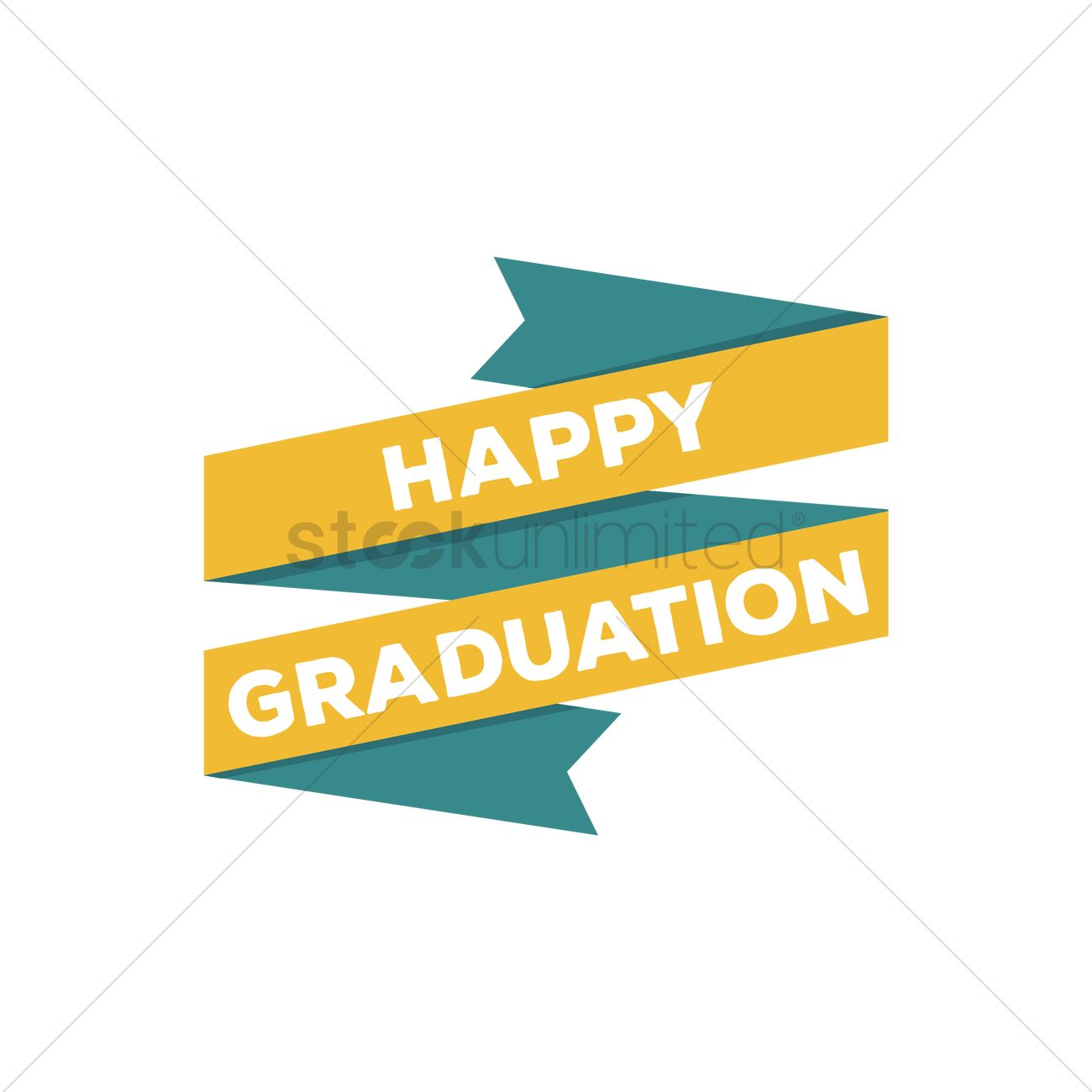 Free Happy graduation banner Vector Image - 1514787
