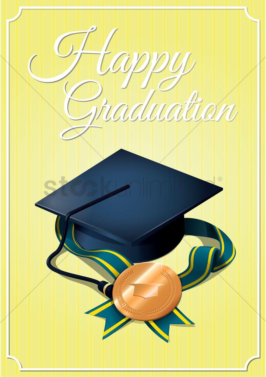 happy graduation card vector image 1533803 stockunlimited