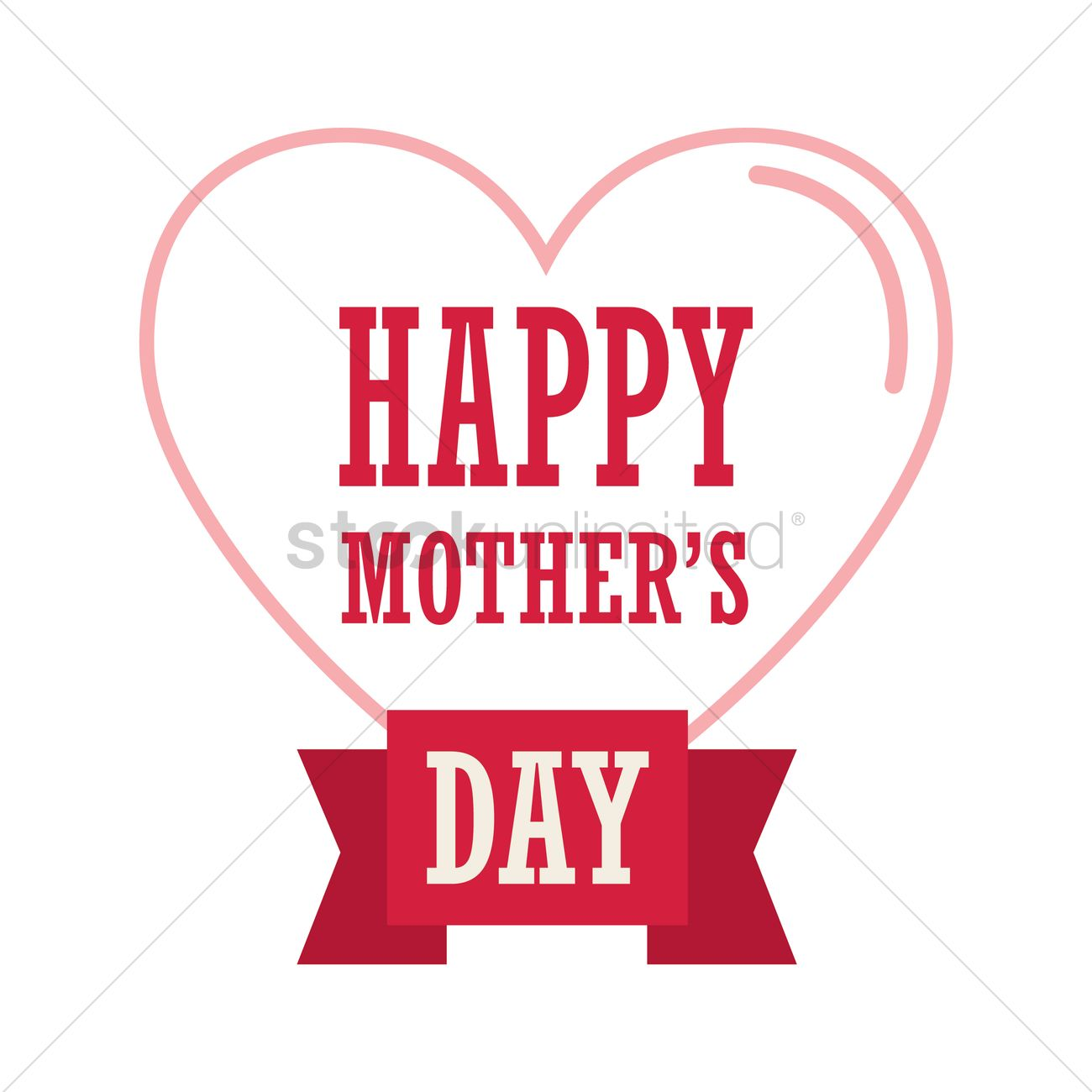 happy mothers day card with heart vector image 1808179