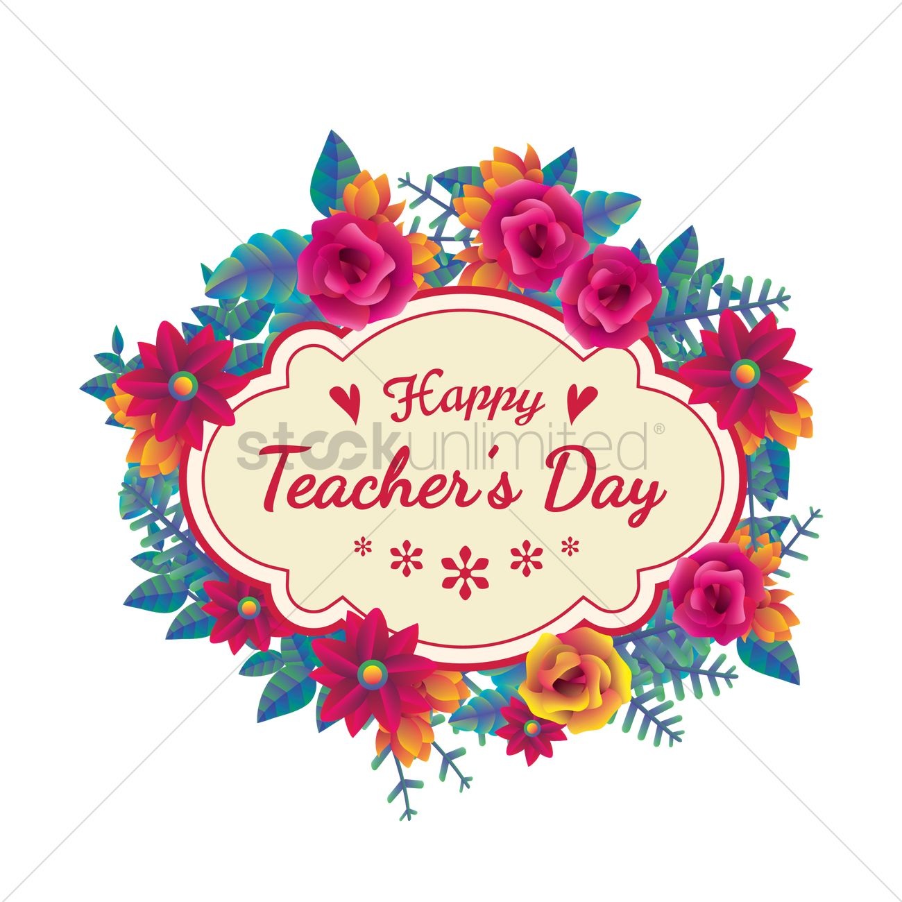 Happy Teachers Day Design Vector Image 1968167 Stockunlimited