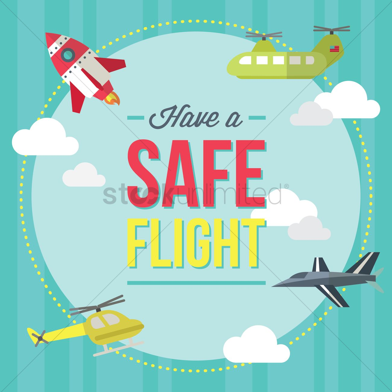 Have A Safe Flight Icon Vector Graphic