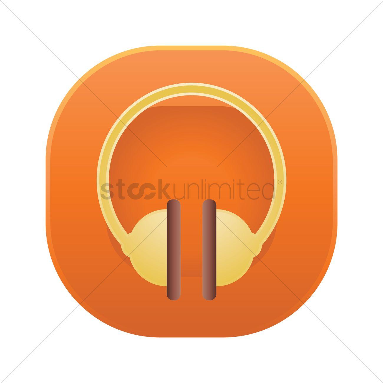 Headphones button Vector Image - 2032919 | StockUnlimited