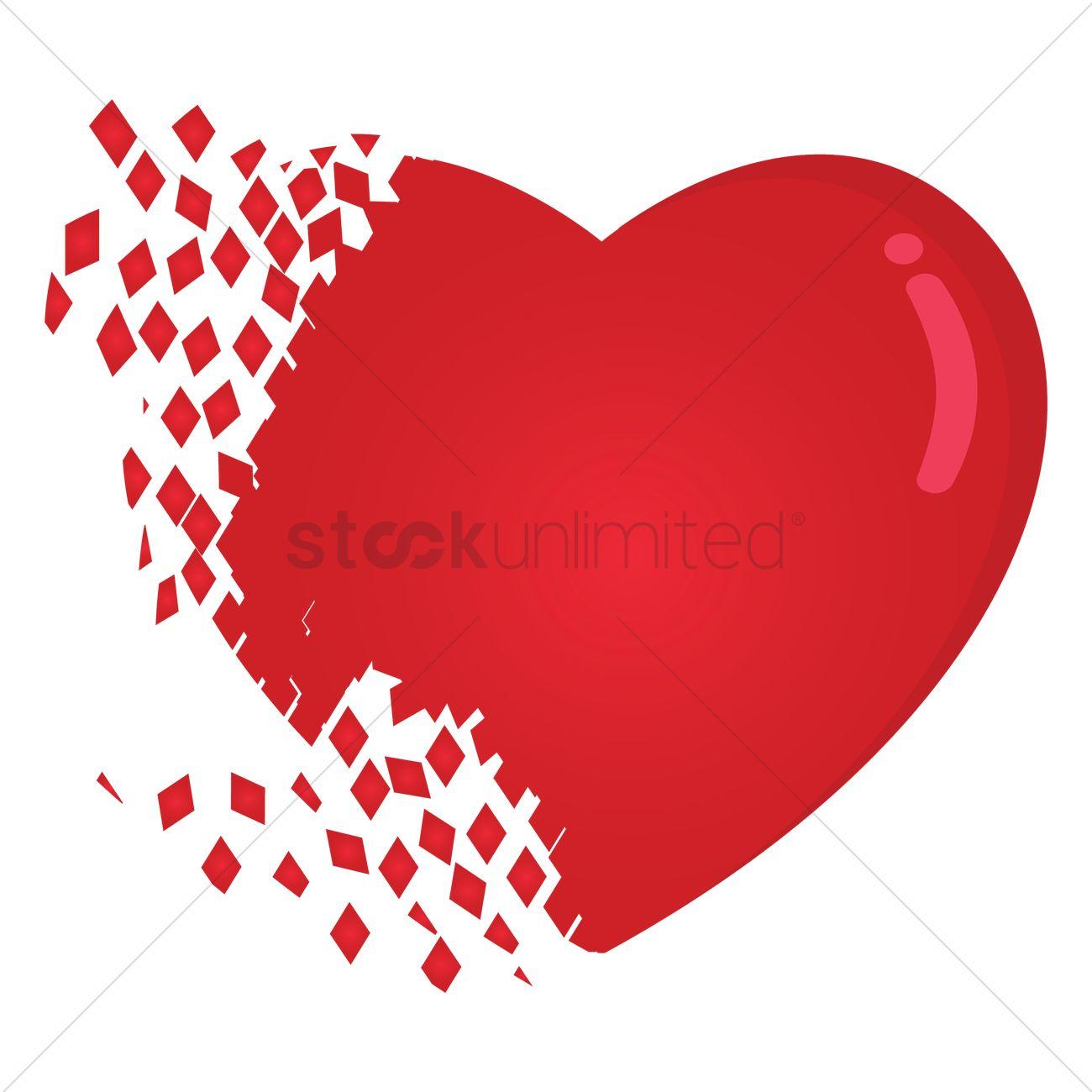 Heart Break Vector Image 1396279 Stockunlimited